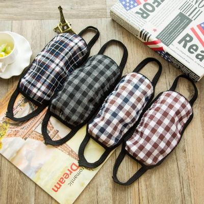 《JMALL》個性時尚韓版格子花色口罩