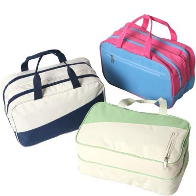 《JMALL》大容量防潑水乾濕分離撞色運動手提包/游泳包