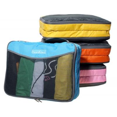 (停賣)《JMALL》清新俏麗手提雙層透氣網格收納袋/衣物整理袋(大)