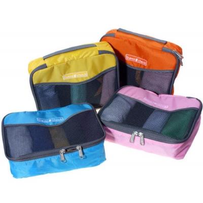 (停賣)《JMALL》清新俏麗手提透氣網格收納袋/衣物整理袋(小)