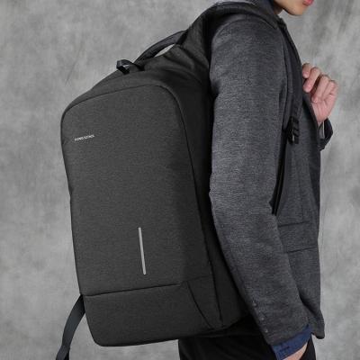 《KINGSONS》簡約時尚科技外接USB電源減壓防盜15吋筆記型電腦防震商務後背包