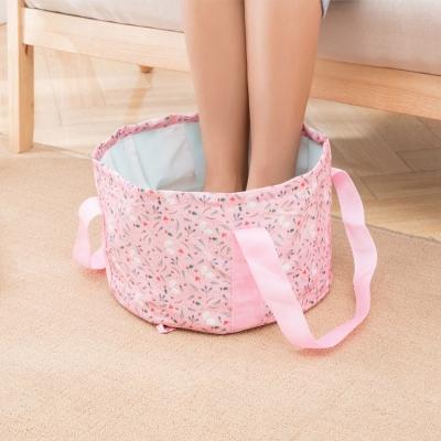《WEEKEIGHT》時尚高質感防潑水可摺疊收納水桶袋/輕便泡腳袋(大/16L)