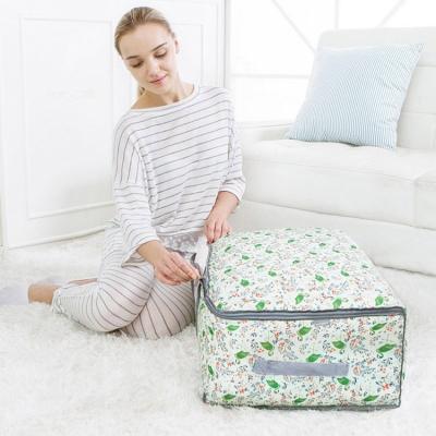 《JMALL》印花多功能防潑水視窗旅行袋/衣物收納袋/搬家袋/棉被袋(大型)