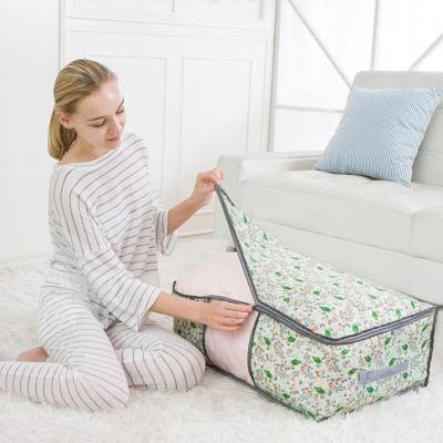 《JMALL》印花多功能防潑水視窗旅行袋/衣物收納袋/搬家袋/棉被袋(中型)