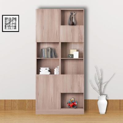 【ARKHOUSE】經典風四門左側六格3尺書房高櫃 W90*H218*D35