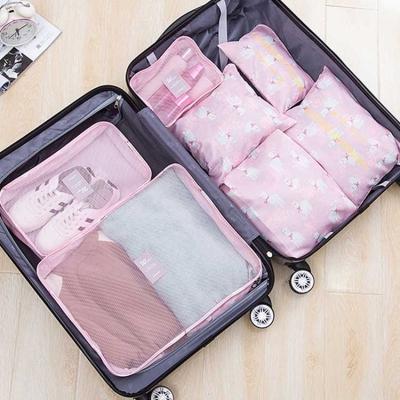 《WEEKEIGHT》韓風時尚防潑水旅行衣物收納袋超值7件套