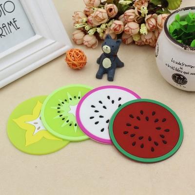 《JMALL》卡通水果造型矽膠隔熱杯墊