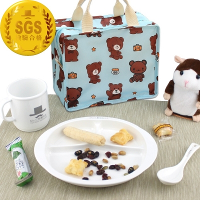 【Mr.nT 無毒先生】安心無毒幼兒餐具套組/附可愛保溫袋