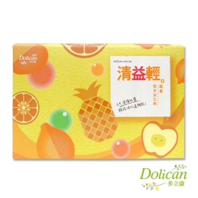 【多立康】清益輕蔬果雙酵益生菌(60包/盒)(約30天份)
