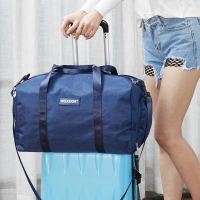 《WEEKEIGHT》運動型多功能乾濕分離設計手提肩背大型旅行袋/運動背包