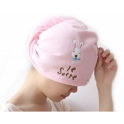 (售完停賣)《JMALL》卡通兔子超細纖維快速乾髮帽