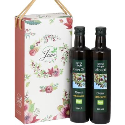 【Cepis】精選禮盒組 希臘Epikouros特級初榨冷壓橄欖油(500mlx2瓶)