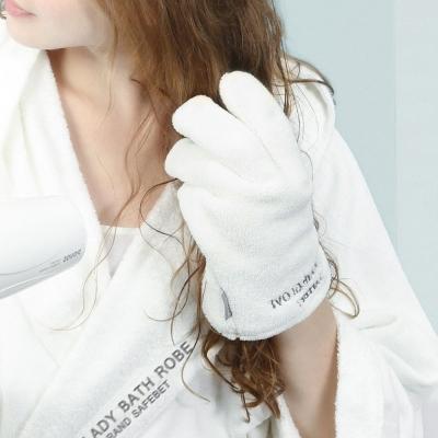 《SAFEBET》創意設計超柔軟超強吸水力快速乾髮手套(附防水收納夾鏈袋)HPH060
