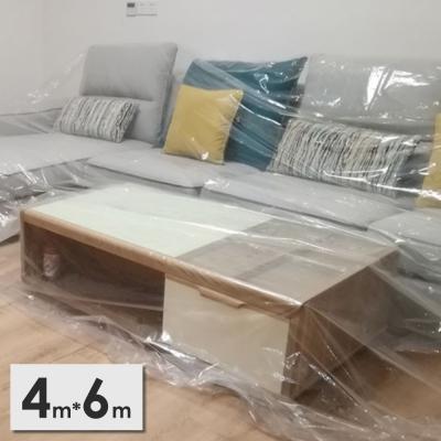 《JMALL》4x6公尺PEVA透明家具防塵布罩
