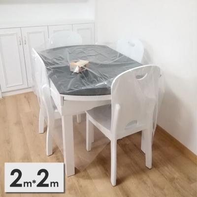《JMALL》2x2公尺PEVA透明家具防塵布罩