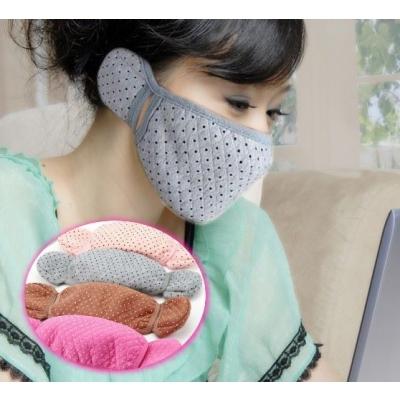 《JMALL》韓版小花點點防寒護耳口罩