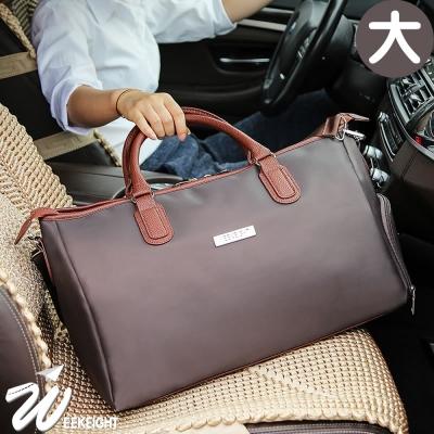 《WEEKEIGHT》經典商務風可登機防潑水乾濕分離設計耐磨旅行袋(大)
