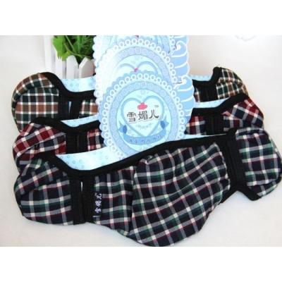 《JMALL》韓版格子條紋防寒護耳口罩