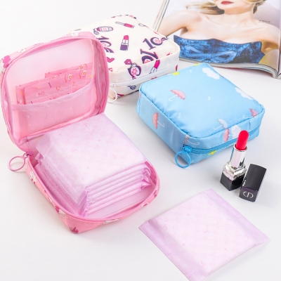 《WEEKEIGHT》清新可愛防震輕巧衛生棉收納包/小物收納包