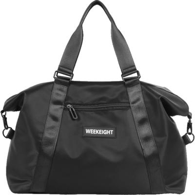 《WEEKEIGHT》時尚多功能可肩背乾濕分離設計手提旅行袋(大型)
