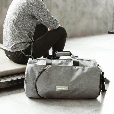 《WEEKEIGHT》圓筒運動型多功能乾濕分離設計手提肩背中型運動背包/旅行袋