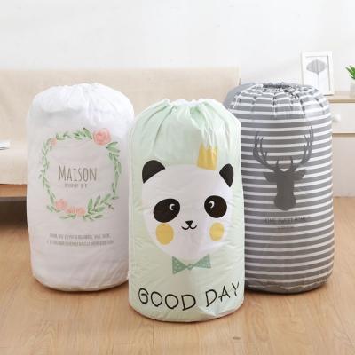 《簡單購》防水防塵可水洗巨無霸圓桶型束口棉被收納袋