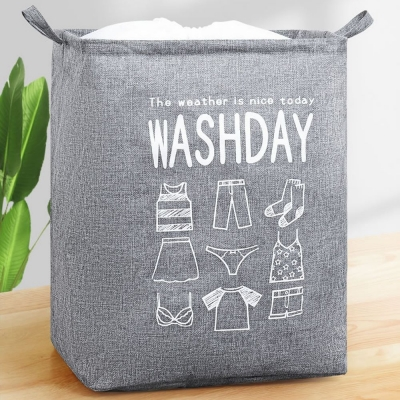 《WEEKEIGHT》超大容量巨無霸可褶疊收納棉被收納籃/洗衣籃/玩具袋