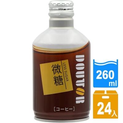 日本進口 DOUTOR 拿鐵咖啡微糖260ml(24瓶/箱) FDC022x24