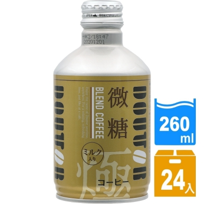 日本進口 DOUTOR 混合咖啡微糖260ml(24瓶/箱) FDC023x24