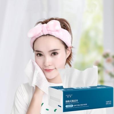 《SINGLELADY》乾濕兩用超強吸水力抽取式一次性洗臉巾/拋棄式毛巾(100抽/包)