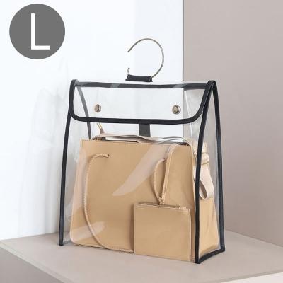 《WEEKEIGHT》超高質感可連結吊掛精品包防塵防潮透明收納袋(L)