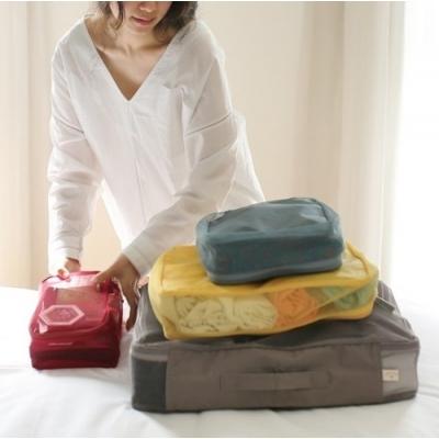 《JMALL》個性風格防潑水旅行衣物收納袋(4件/套)