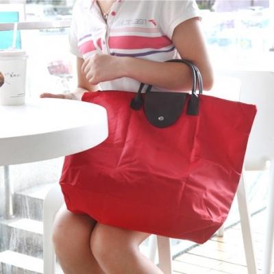 《JMALL》俏麗時尚可摺疊手提收納袋/購物袋