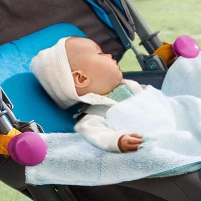 《JMALL》多功能嬰兒推車防踢被夾/毛巾夾(2入/組)