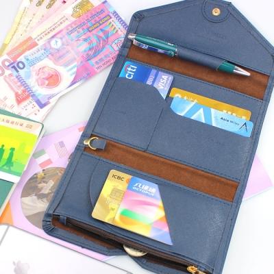 《JMALL》時尚簡約多功能短款皮護照包/證件包