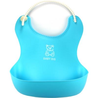 《JMALL》糖果色輕巧柔軟寶寶吃飯圍兜