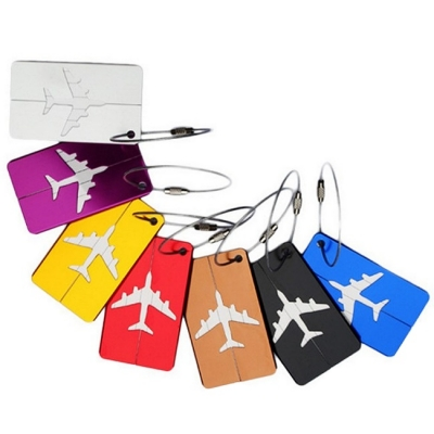 《JMALL》簡約時尚小飛機鋁合金行李吊牌