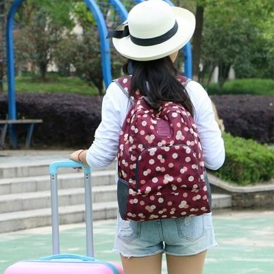 《JMALL》俏麗青春防潑水旅行用可褶疊後背包