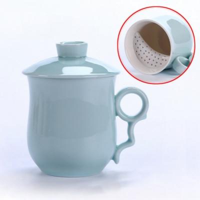 《JMALL》隨意杯 可愛超創意陶瓷茶杯/濾口杯(250ml)