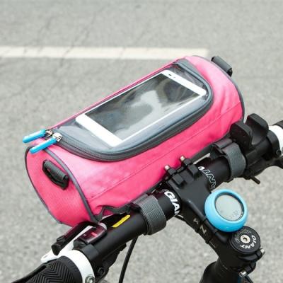 《JMALL》時尚亮彩多功能防潑水圓筒包/自行車包/單肩包/斜背包