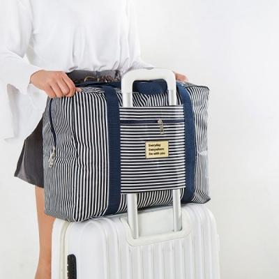 《JMALL》適用行李箱拉桿 防水耐磨牛津布褶疊旅行袋/肩背包(小)