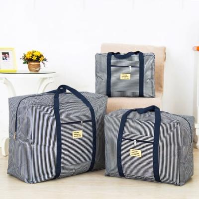 《JMALL》適用行李箱拉桿 防水耐磨牛津布褶疊旅行袋/肩背包(中)
